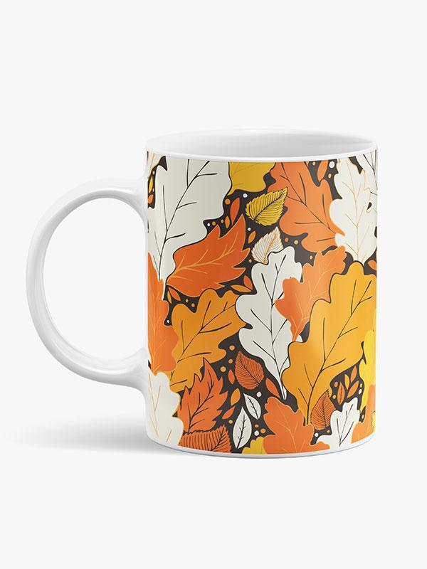 """Caneca de Cerâmica """"Flores de Outono"""""""