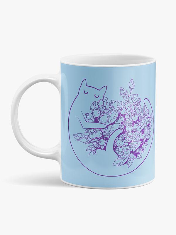 "Caneca de Cerâmica ""Moon Cat"""