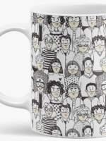 """Caneca de Cerâmica """"População com Máscaras"""""""